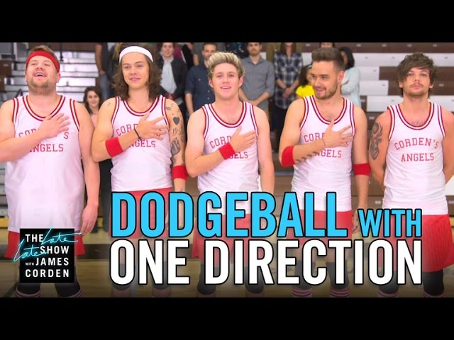 James Corden Plays A Hilarious Game Of Dodgeball With One Direction