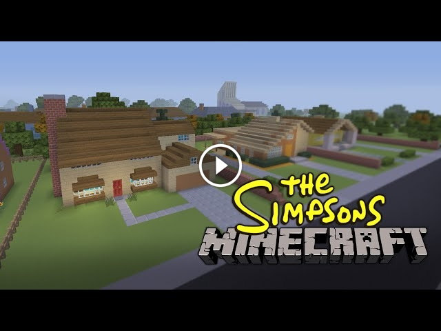 The Simpsons Opening Intro Recreated In Minecraft