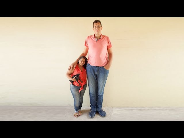 The Tallest Man In Brazil Finds Love With A 5ft Woman