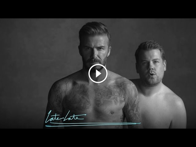 David Beckham Shows Off New Underwear Line With James Corden On The Late Late Show