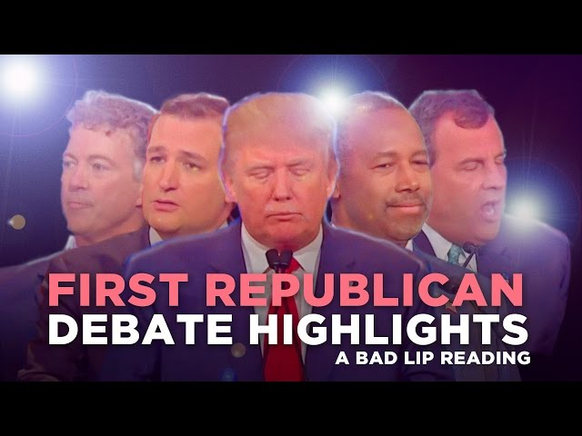 Hilarious First Republican Debate Highlights Dubbed With Bad Lip Reading