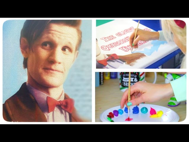 This Girl Paints The Most Realistic Painting Of Matt Smith You Will Ever See