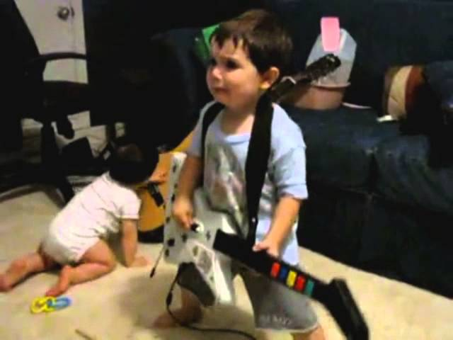 2-Year Old Rocks Out Harder Than Most Metal Musicians