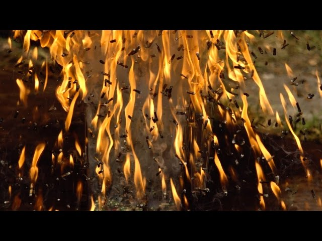Amazing Video Of 6,000 Matches Ignited In Slow Motion