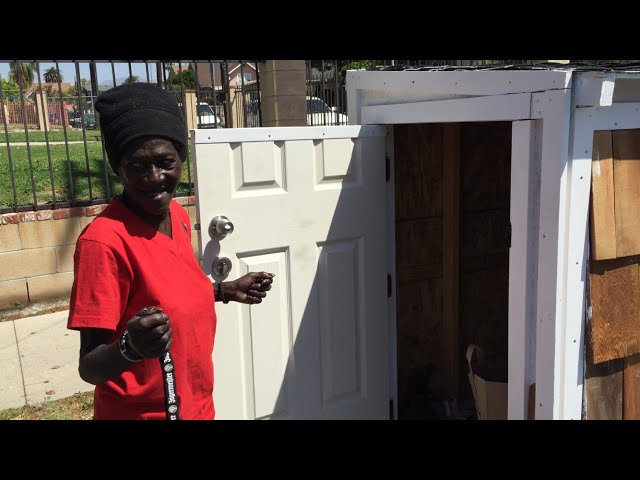Man Builds Tiny House, Homeless Woman Moves In
